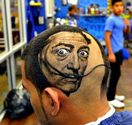 مدل مو جدید مردانه نقاشی روی سر 2014