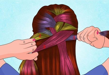 آموزش بافت مو فرانسوی